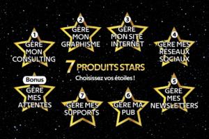 Les produits GÈREMACOM' : Les 7 STARS !